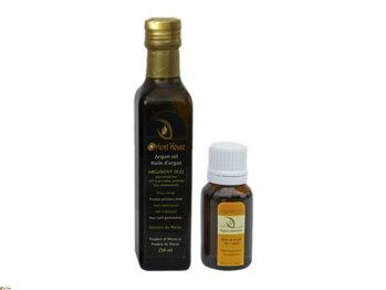 Vôňa pravého arganového oleja potravinárskeho z Maroka